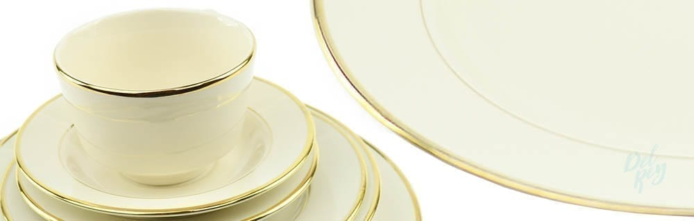 Fine Ivory with Gold Border China