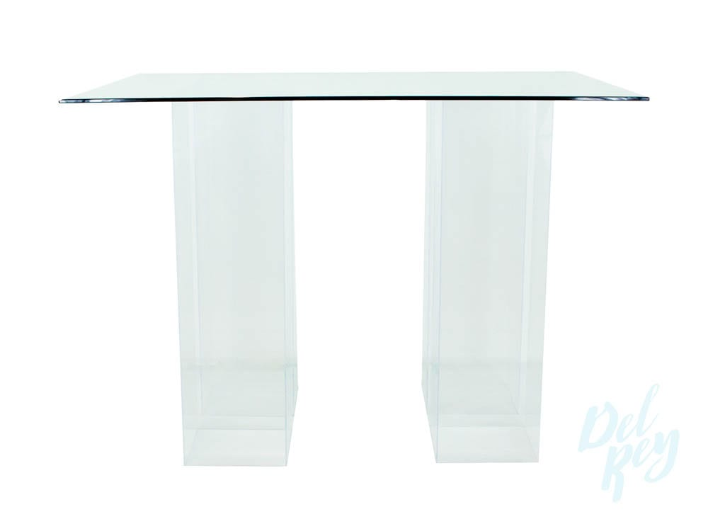 Translucent Glass Top Cocktail Table