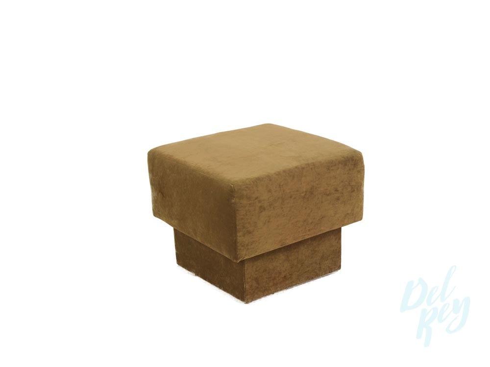 SQUARE OTTOMAN LOUNGE BROWN - Party Rentals