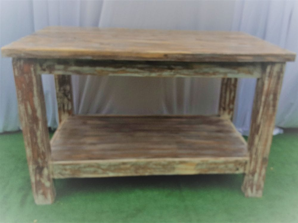 farm shelf table